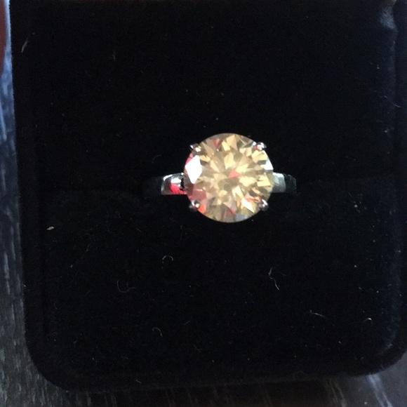 Fab Auth 5 carat new moissanite diamond ring 7 5